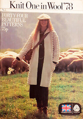 44 Knitting & Crochet Patterns Patons Fashion Knits Magazine 78 Men's Ladies • 15£