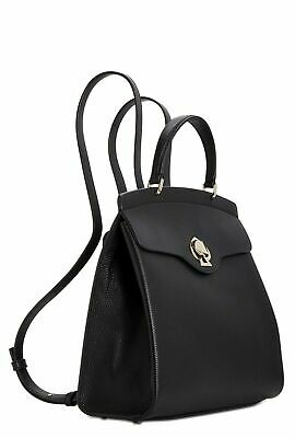 $ CDN126.31 • Buy $289 Kate Spade Nicola Romy Twistlock Top Handle Backpack BLACK Leather