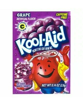 Grape Purple Kool-Aid Drink Mix 10 Packets Each Makes 2 Quarts .13oz • 7.95£