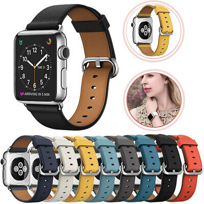 AU9.69 • Buy For Apple/Watch Band Genuine Leather Strap IWatch Series 5 4 3 2  38/40/42/44mm