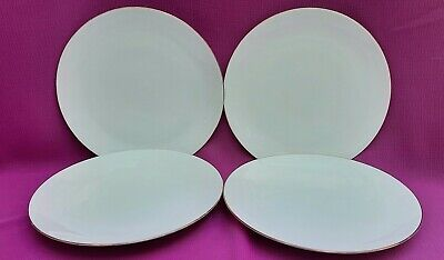 £23.99 • Buy Thomas Germany 4 X White/Gold Thin Gold Band Porcelain Plate 21cm