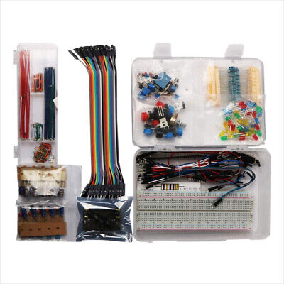 Electronic Component Assorted Kit Board Jumper Wire LED Capacitors For Arduino • 20.49£
