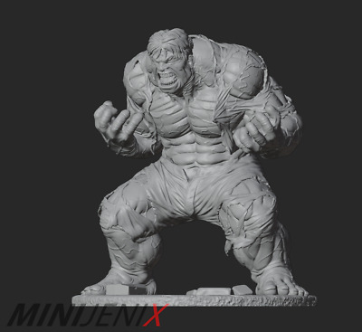 Marvel Hulk Custom Miniature Resin Model Kit Figure/Statue 75mm-125mm • 23.99£