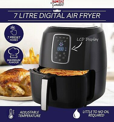 AU119.95 • Buy Digital Air Fryer 7L Black LED Display Kitchen Couture Healthy Oil Free Cooking
