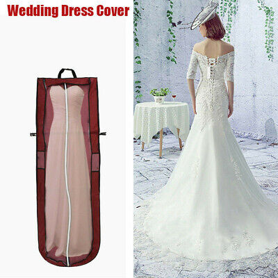 £5.94 • Buy Breathable Long Zipped Bridesmaids Gown Clothes Dress Cover Garment Store Bags