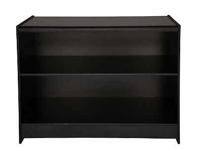 BLACK 1200mm COUNTER  WITH SHELF RETAIL DISPLAY SHOP FITTINGS CASH TILL WRAP NEW • 149£