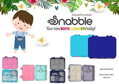 AU39 • Buy New Design, 6 Section, Leakproof, Bento Lunch Box, By Snabble