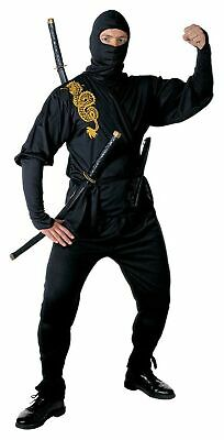 Mens Ninja Costume Large UK 42/44  For Oriental Chinese Fancy Dress • 55.25£