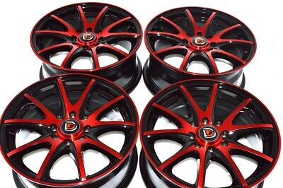 $332.64 • Buy 15 Red Wheels Miata Cooper Mirage Sonata Civic Accord Corolla Rims 4x100 4x114.3
