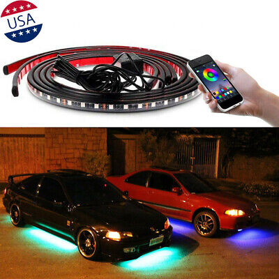$44.75 • Buy JDM RGB LED Underbody Car Neon Light Chassis Atmosphere Lamp Light APP Control