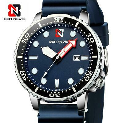 $ CDN21.51 • Buy Fashion Men Sport Quartz Watch Ben Nevis Silicone Strap Calendar Wristwatch