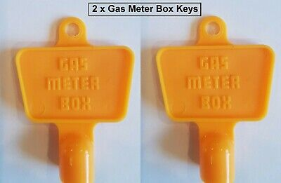 £3.85 • Buy 2 X Yellow Service Utility Meter Key Gas Electric Box Cupboard Cabinet Triangle