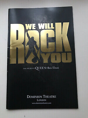 £7.95 • Buy WE WILL ROCK YOU The Musical LARGE Programme OLIVER TOMPSETT BRENDA EDWARDS