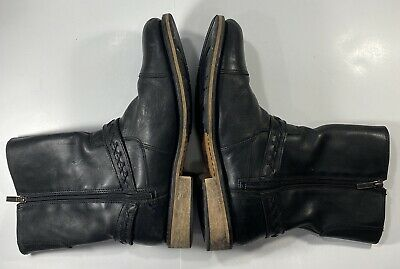$ CDN63.29 • Buy Harley-Davidson Mens Constrictor Black Leather Motorcycle Boots Zipper Size 11.5