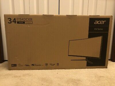 AU722.59 • Buy Brand New Acer EI342CKR 34  144hz 1440p 1ms FreeSync HDR400 Gaming Monitor