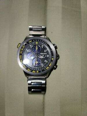 $ CDN331.73 • Buy Seiko Prospex Solar Men's Watch  Chronograph Pilot  Black Dial.