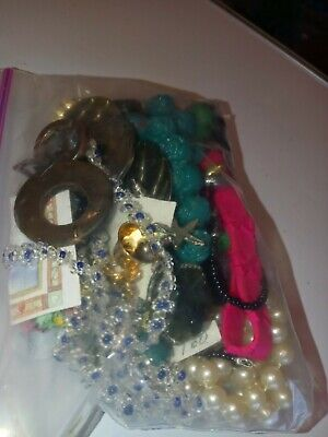 $ CDN17.17 • Buy Costume Jewelry Lot- UNSEARCHED, UNTESTED, Vintage To New Estate Bag/Box 300 Gms