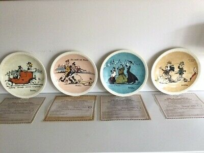 $ CDN50.21 • Buy Norman Rockwell On Tour, Set Of 4, Newell Pottery, Collector Plates, New