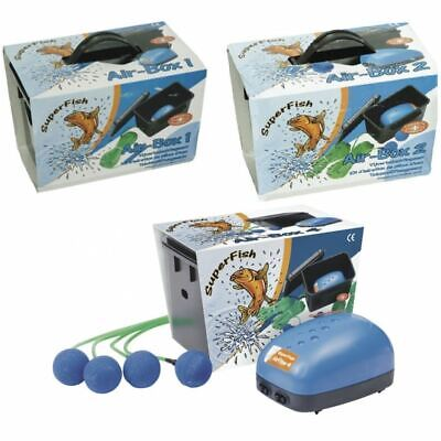 £15.45 • Buy Superfish Air Box Pond Air Pump Aeration Kit With Airline Airstone