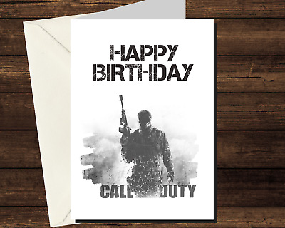 £3.25 • Buy Personalised CALL OF DUTY Birthday Card - Game Gamer PS4 Xbox PC Mobile Boy Girl