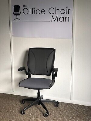 Humanscale Diffrient World Operator Chair With Sea Grey Cloth Seat  & Grey Mesh • 225£