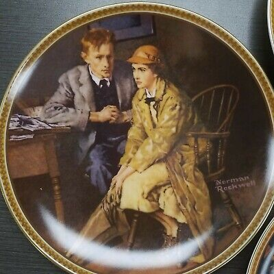 $ CDN36.28 • Buy Set 3 Norman Rockwell 8.5  Collector Plates