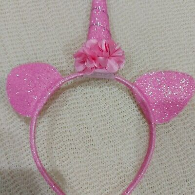 AU17.79 • Buy Unicorn  Joblot Glitter Ears Headband Halloween Pink Girls   Fancy Dress X 10