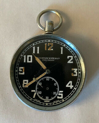 Orator Watch Co Precision WWII British Military Stamped G.S.T.P. Pocket Watch • 93.61£