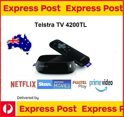 AU105 • Buy Telstra TV Powered By Roku (Model No. 4200TL) YOUTUBE NETFLIX STAN AMAZON FOXTEL