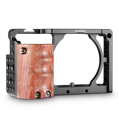 AU64.99 • Buy SmallRig Camera Cage With Wooden Handgrip For Sony A6000/A6300 Rig Kit 2082