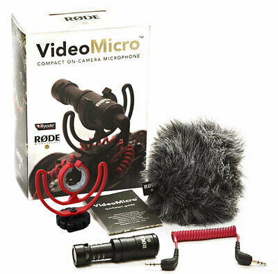 Rode Videomicro Compact Capacitor Directional Microphone Camera Microphone • 65.50£