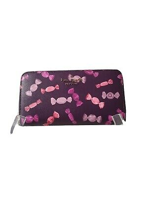 $128.99 • Buy Kate Spade Large Continental Staci Candy Wallet Purple Multi-Color Envelope NWT