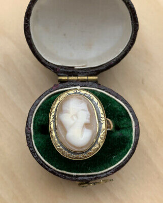 £75 • Buy Antique 9ct Yellow Gold Large Cameo Ring.