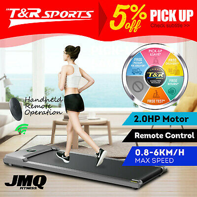 AU324.99 • Buy T100 2-in-1 Electric Treadmill Under Desk Home Office Exercise Walking Machine *