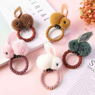 $ CDN3.44 • Buy Cute Girls Plush Bunny Hair Bands Ropes Children Hair Clip Pins Hair Accessories