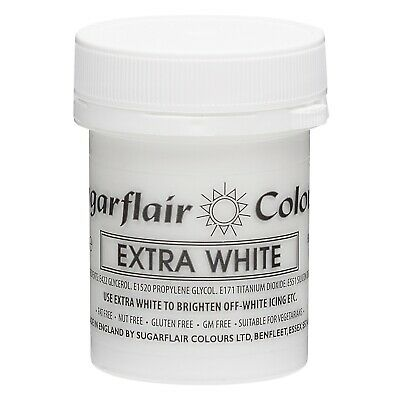 £5.86 • Buy Sugarflair Max Concentrate Paste Colour White Extra 50g