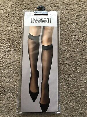 £10 • Buy Wolford Satin Touch 20 Knee-Highs Size M Fairly Light