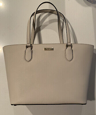 $ CDN74 • Buy NEW! KATE SPADE Small Dally Tote Bag PUMICE Gold Purse Laurel Way LEATHER  $299