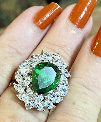 $50 • Buy ❤️Sterling CHARLES WINSTON CWE Size 7 Incredible Cocktail Ring MAGNIFICENT ‼️