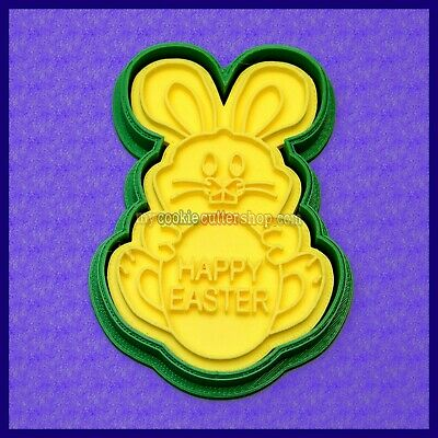 AU12.95 • Buy Easter Bunny / Easter Egg Cookie Cutter Impression Stamp. Cookie Dough & Fondant
