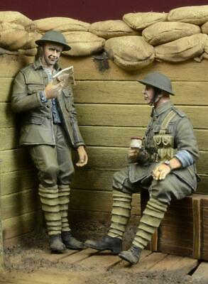 1/35 Scale Resin Kit In Trench WWI / WW1 British Infantry At Rest • 28.99£