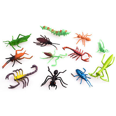 £3.95 • Buy 12 Pcs Plastic Realistic Insect Model Figure Toys For Child Assorted Bugs