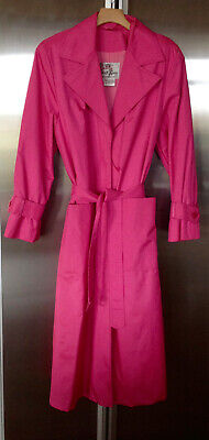 $ CDN102.78 • Buy Count Romi Pink Check Trench Style Raincoat Size 10
