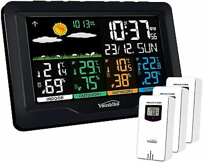 Youshiko (Official UK Version) With 3 Outdoor Wireless Sensors Weather Station • 59.99£