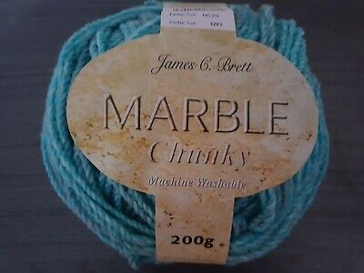 200g Marble Turquoise /Green Chunky Wool. • 4£