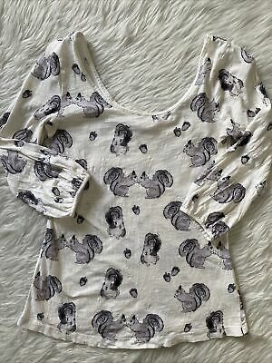 $ CDN50.48 • Buy XS Anthropologie Squirrel  Forest Fete Tunic  Top SOLD OUT