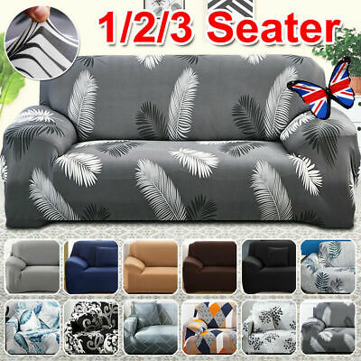 AU22.59 • Buy Sofa Covers 1/2/3/4 Seater Stretch Lounge Slipcover Protector Couch Washable AUS