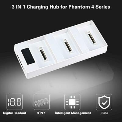 AU26.72 • Buy 3 In 1 LED Digital Battery Charger Hub For DJI Phantom 4/ADVANCED/PRO+ RC Drone