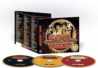 Soul Legends (3cd/60 Classic Hits-various Artists) - Brand New & Sealed Cd+++ • 3.99£