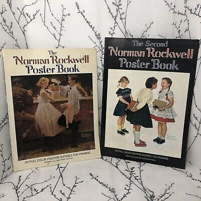$ CDN32.50 • Buy Norman Rockwell -Set Of 2 Poster Books - Includes 40 Full Color Posters